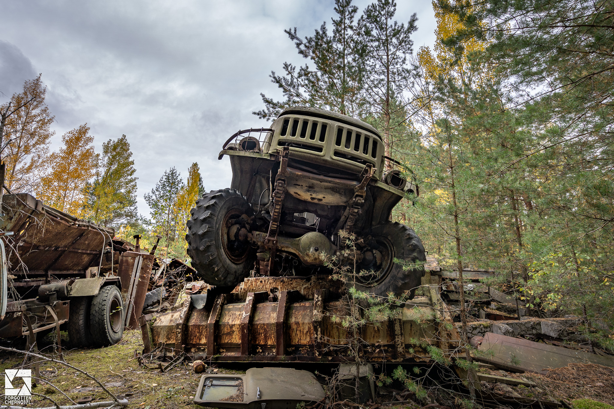 ZIL-131 truck at the ATH 2 garage and repair facility near Pripyat