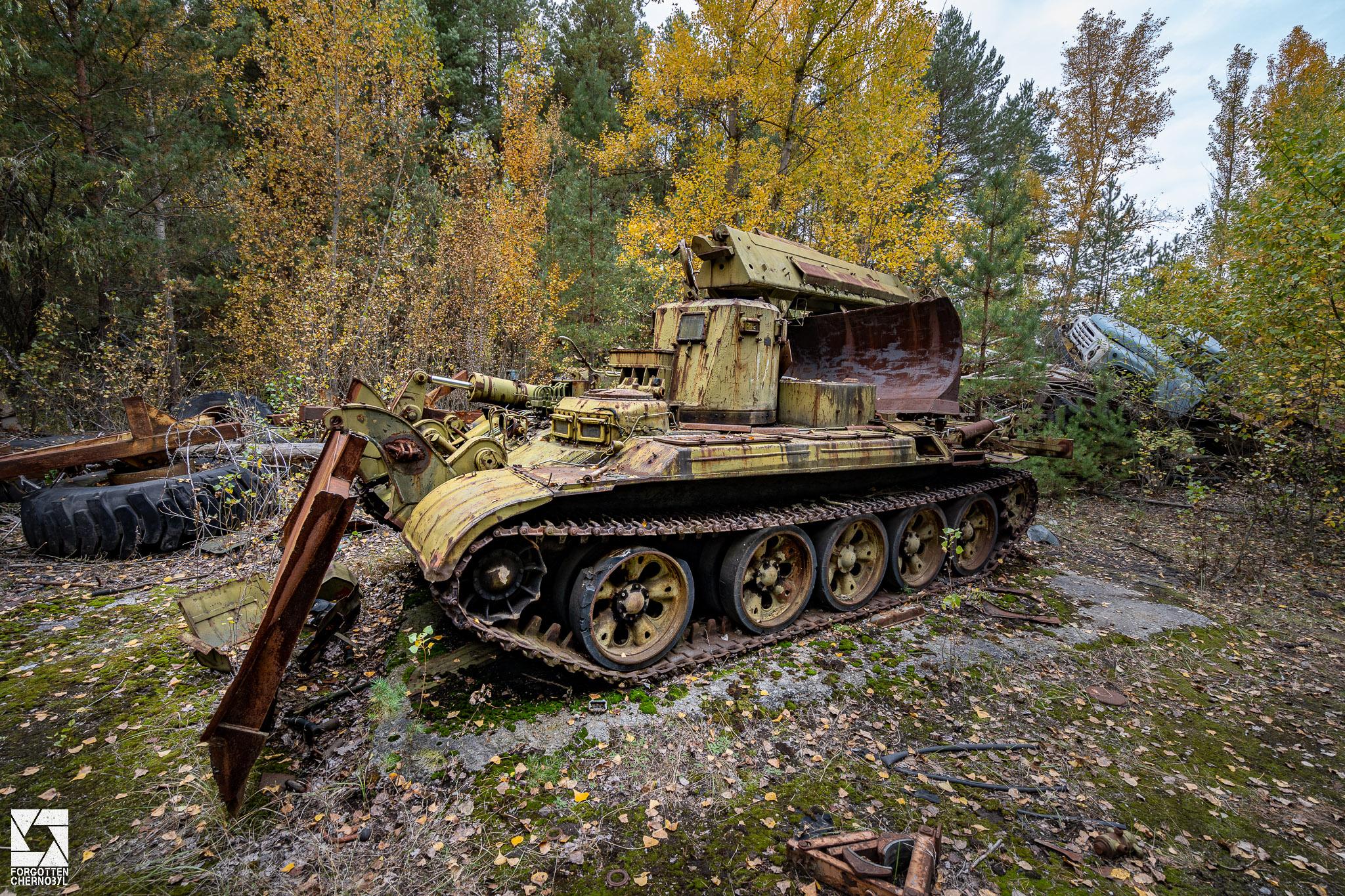 IMR Engineering Vehicle at the ATH 2 garage and repair facility near Pripyat