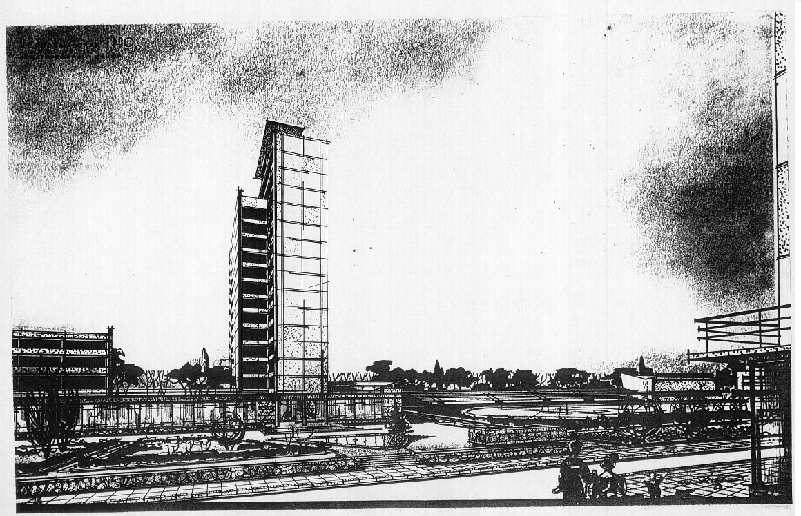 Architectural sketches of Pripyat