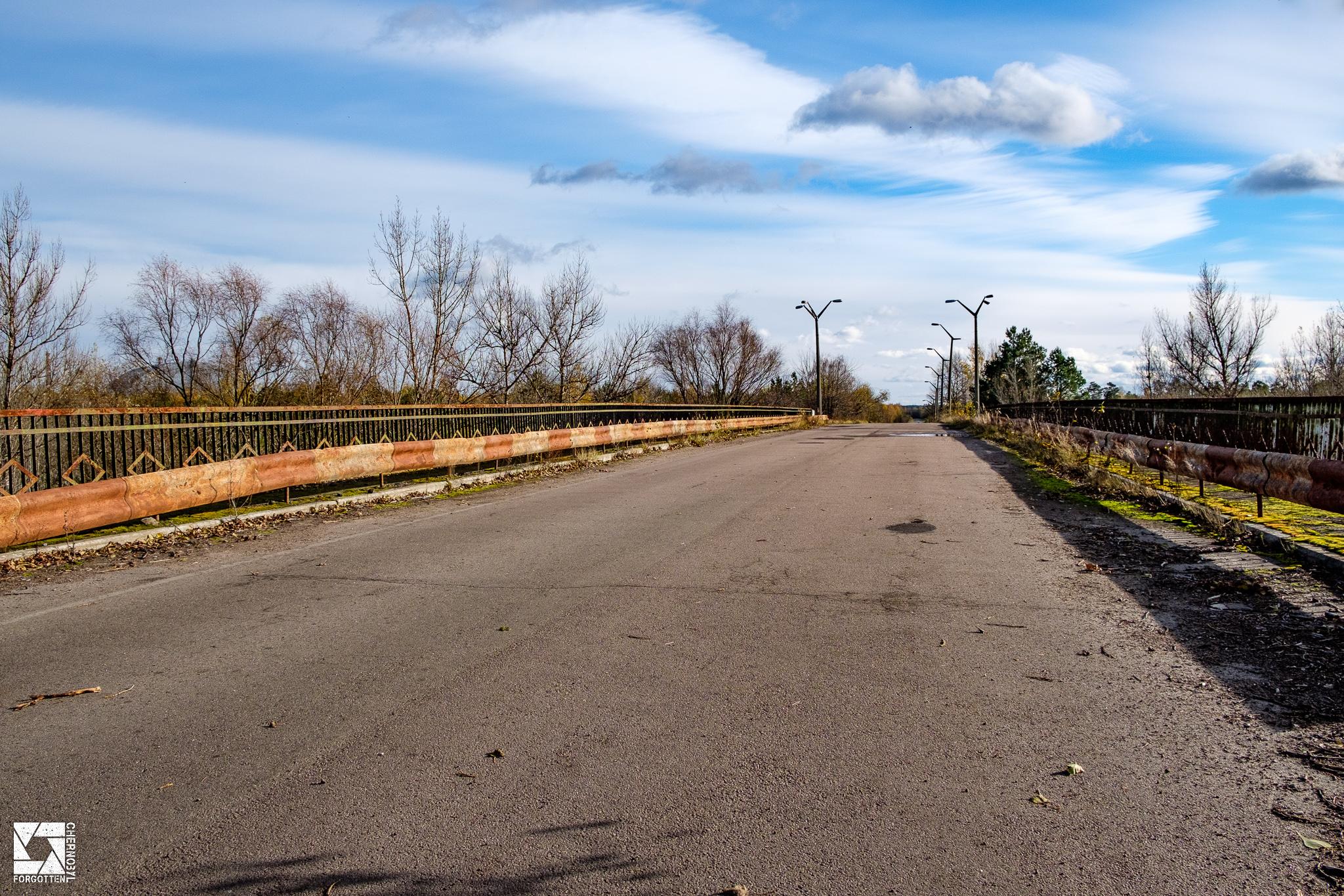 Bridge of Death between Chernobyl and Pripyat