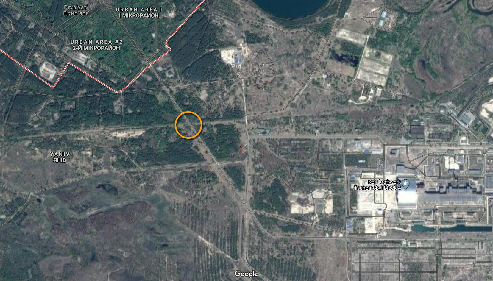 Chernobyl Bridge of Death Location Map