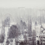Winter in Pripyat from a rooftop