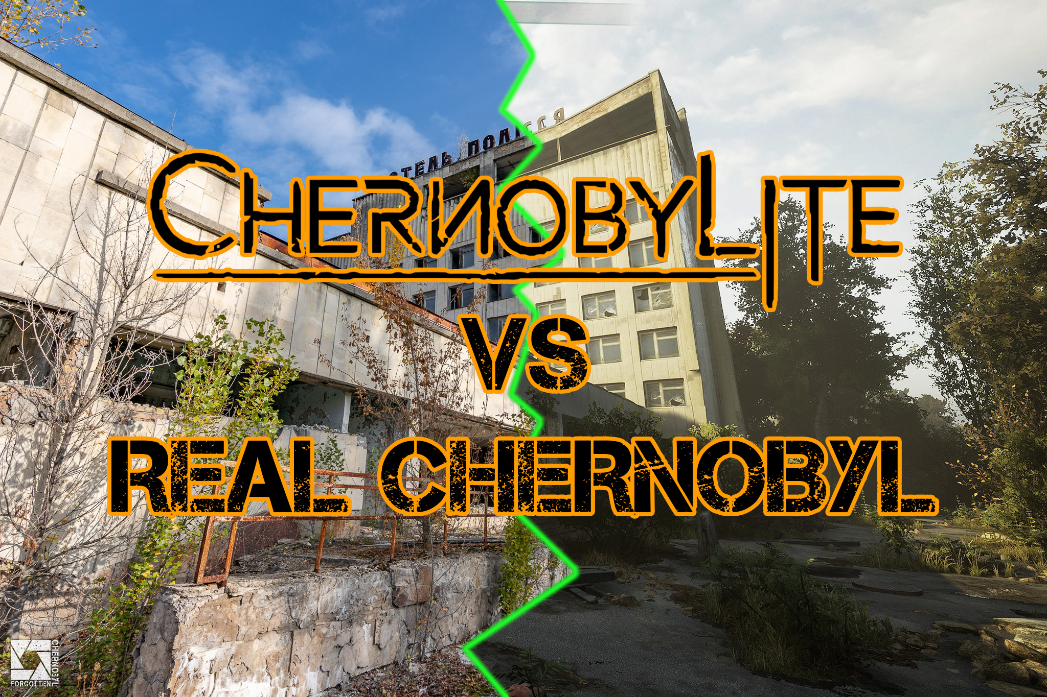 Comparing Chernobylite game to real world Chernobyl