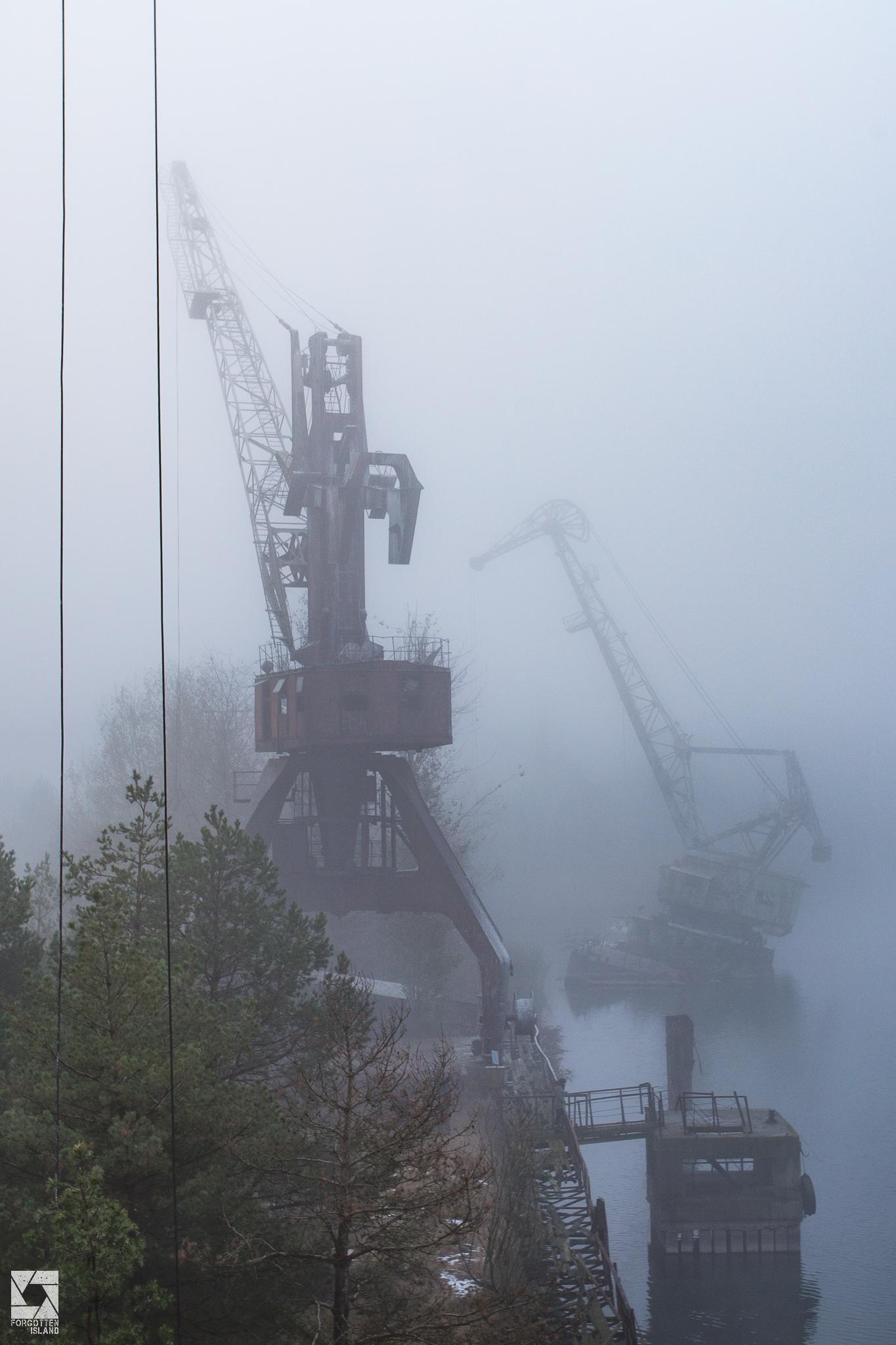 Pripyat Dock Cranes