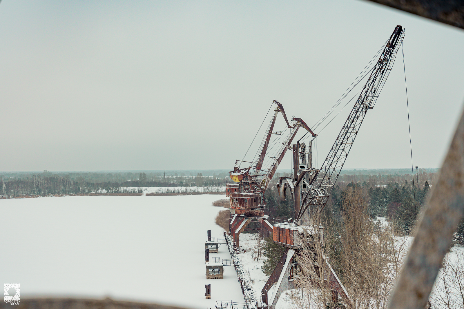 Floating Crane in Pripyat Dock