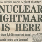 Chernobyl coverage in Daily Express from 30 April 1986