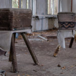School near Poliske in Chernobyl Zone