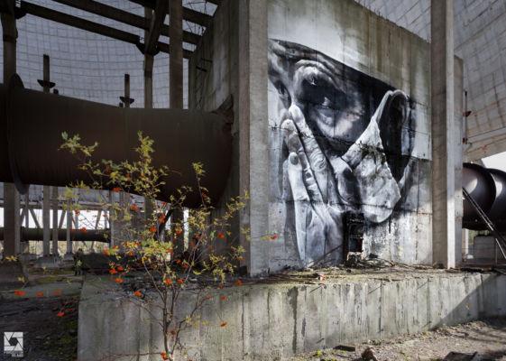 Chernobyl Cooling Towers Graffiti