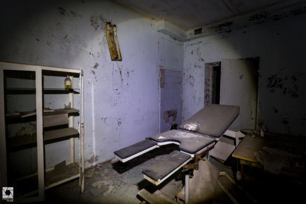 Pripyat Hospital at Night